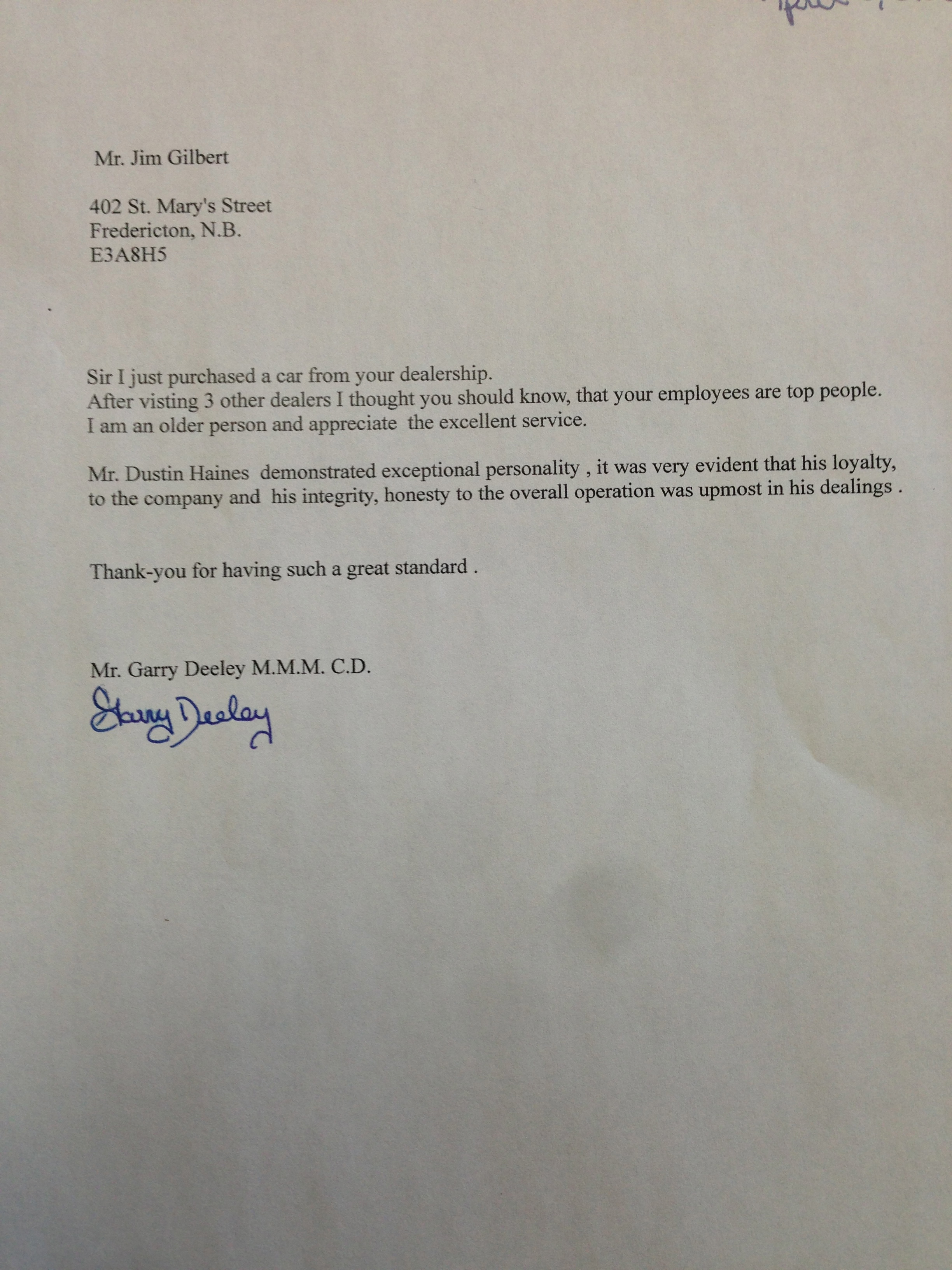 Thank you letter to for car 28 images car salesman for Cover letter for car dealership