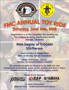 Fredericton MOtorcyle club toy ride